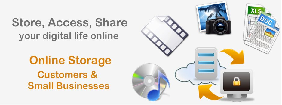 Secured online Storage for customers and small businesses (SME)